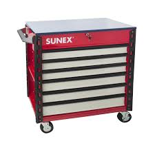 100 Service Truck Tool Drawers Premium Full Drawer Cart USA Sunex S