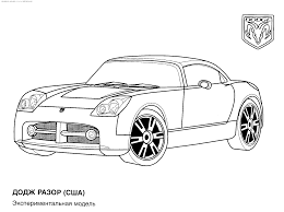 Dodge Car Colouring Pages