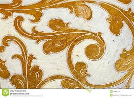 Gold Flourish Design White Background Stock Image