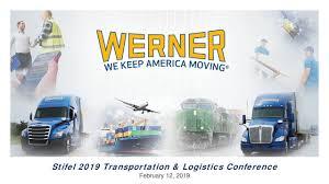 100 Werner Trucking Phone Number Enterprises WERN Presents At Stifel 2019 Transportation