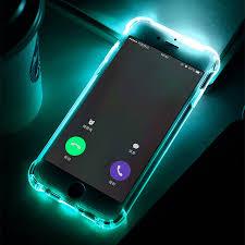 2017 Luxury New Soft TPU LED Flash Light Up Case Remind In ing