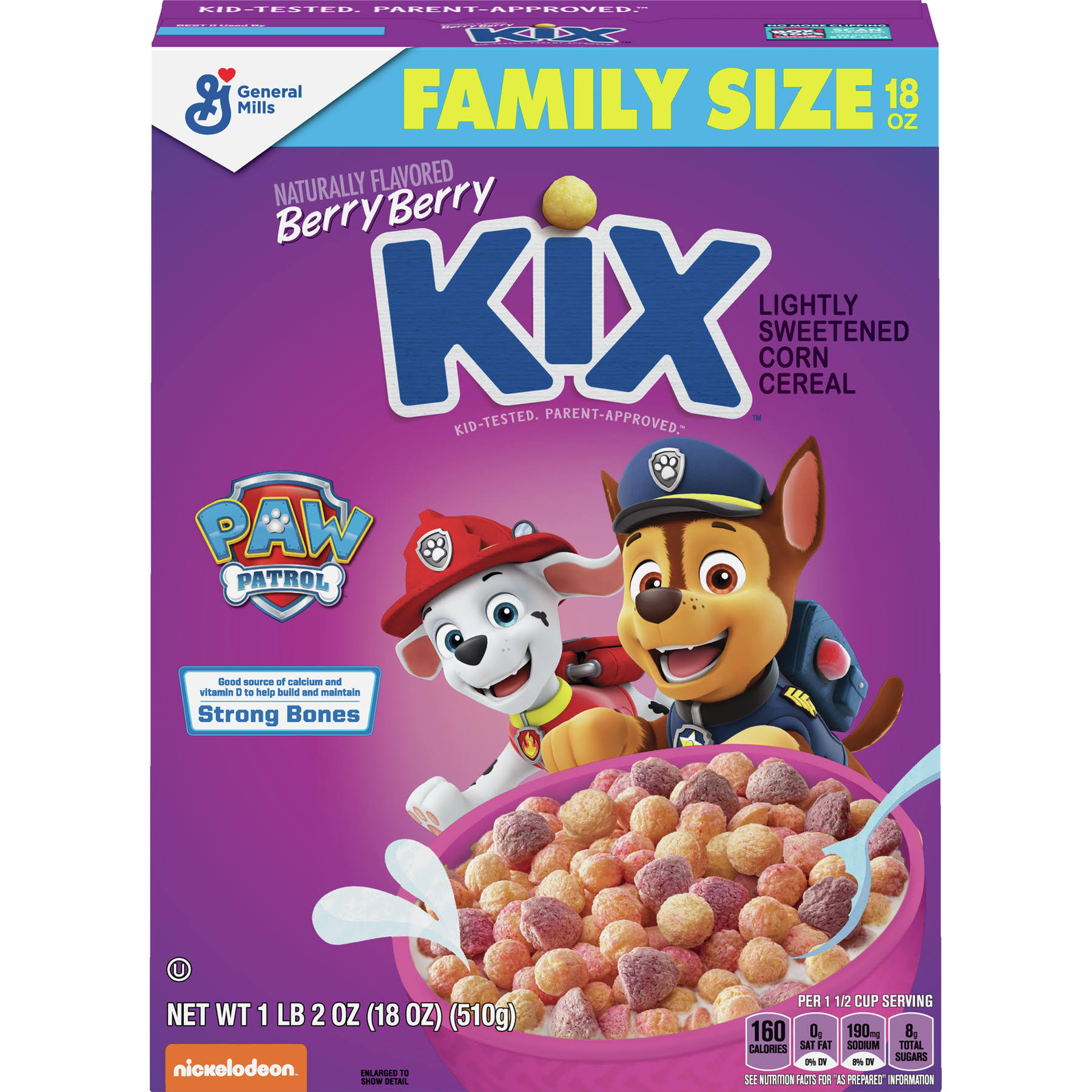 General Mills Kix Berry Berry Cereal - Family Size, 18oz