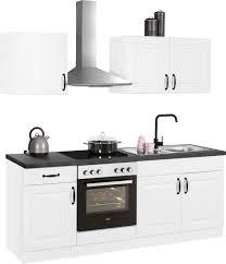 wiho küchen küchenzeile erla ohne e geräte breite 210 cm