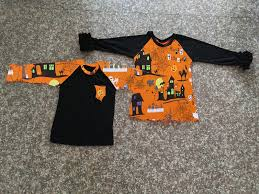Halloween Baby Boys Long Sleeve Shirts Kids Girl Raglan Wholesale Children Fall Clothes