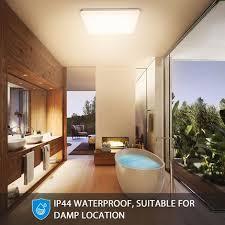 led deckenleuchte bad oeegoo 18w 1800lm led flimmerfreie deckenle 28x28cm ip44 wasserfest badleuchte für badezimmer flur wohnzimmer schlafzimmer