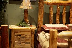 Log Bed from Peaceful Valley Furniture handcrafted solidwood