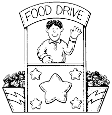 Church Food Drive Black And White Clipart