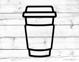 Coffee Cup Svg To Go Silhouette Png Latte For Cricut Take Away