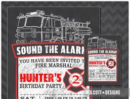 Birthday ~ Fire Truck Birthday Party Invitations Gallery Party ...