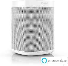 sonos one smart speaker weiß intelligenter wlan lautsprecher mit sprachsteuerung airplay multiroom speaker für unbegrenztes