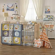 amazon com lolli living woods 4 piece crib bedding set