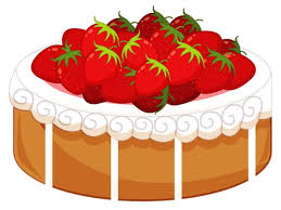 Cake with Strawberries PNG Clipart Food Clip Art Pinterest