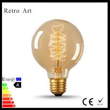 g80 globe filament edison light bulbs 40w e27 retro vintage style