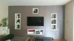 pin auf vorbauwand tv wohnzimmer