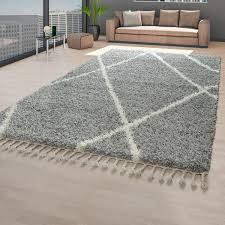 rugs carpets teppich modern vintage design fransen wohnzimmer grau anthrazit creme beige home furniture diy new times bg
