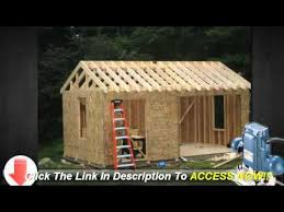 10x12 storage shed plans learn how to build a shed on a budget