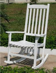 Lovely And Comfy White Rocking Chair | Royals Courage