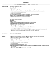 Download General Office Clerk Resume Sample As Image File