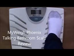 Bed Bath And Beyond Talking Bathroom Scales by Myweigh Phoenix Talking Bathroom Scale Review Youtube