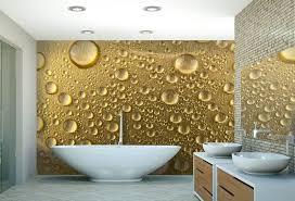 papier peint salle de bain avec des gouttes d eau pour une