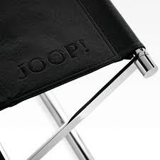 joop chromline hocker 34 5 x 45 0 x 45 0 cm in schwarz