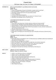 Download Lab Operations Resume Sample As Image File
