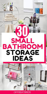 30 nifty bathroom storage ideas to make most of space
