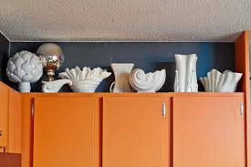 Above Kitchen Cabinet Decorations Pictures by Ideas For Decorating Above Kitchen Cabinets Black Stove Dark