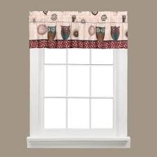Spice Owl Window Curtains In Valance