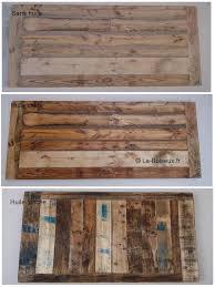 bureau bois recyclé table bureau 110 x 70 x h75 cm plateaux de table en bois
