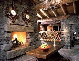 Rustic Stone Fireplace Design