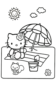 Hello Kitty Coloring Pages Page At The Circus Going To School Beach