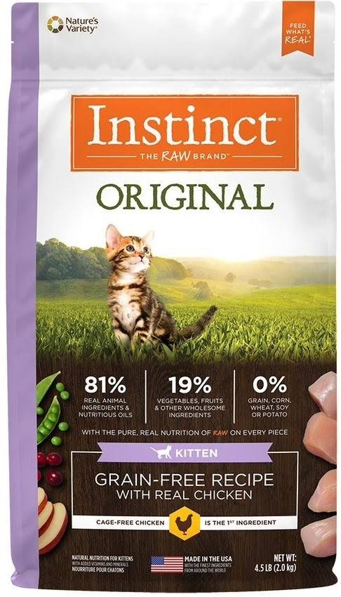 Instinct Original Kitten Grain Free Recipe with Real Chicken Natural Dry Cat Food, 4.5 lb