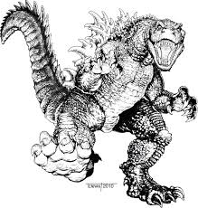Download Coloring Pages Godzilla To And Print For Free