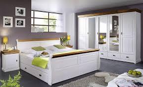 schlafzimmer set 4teilig neapel kiefer weiß gewachst honig lackiert casade mobila