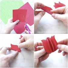 Fold Each Of The Six Paper Tulip Flowers In Half Use Your Glue Stick To Add One Folded Halves A