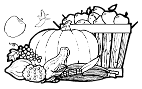 Ideas Of Harvest Fruit Vegetables Coloring Pages Also Letter