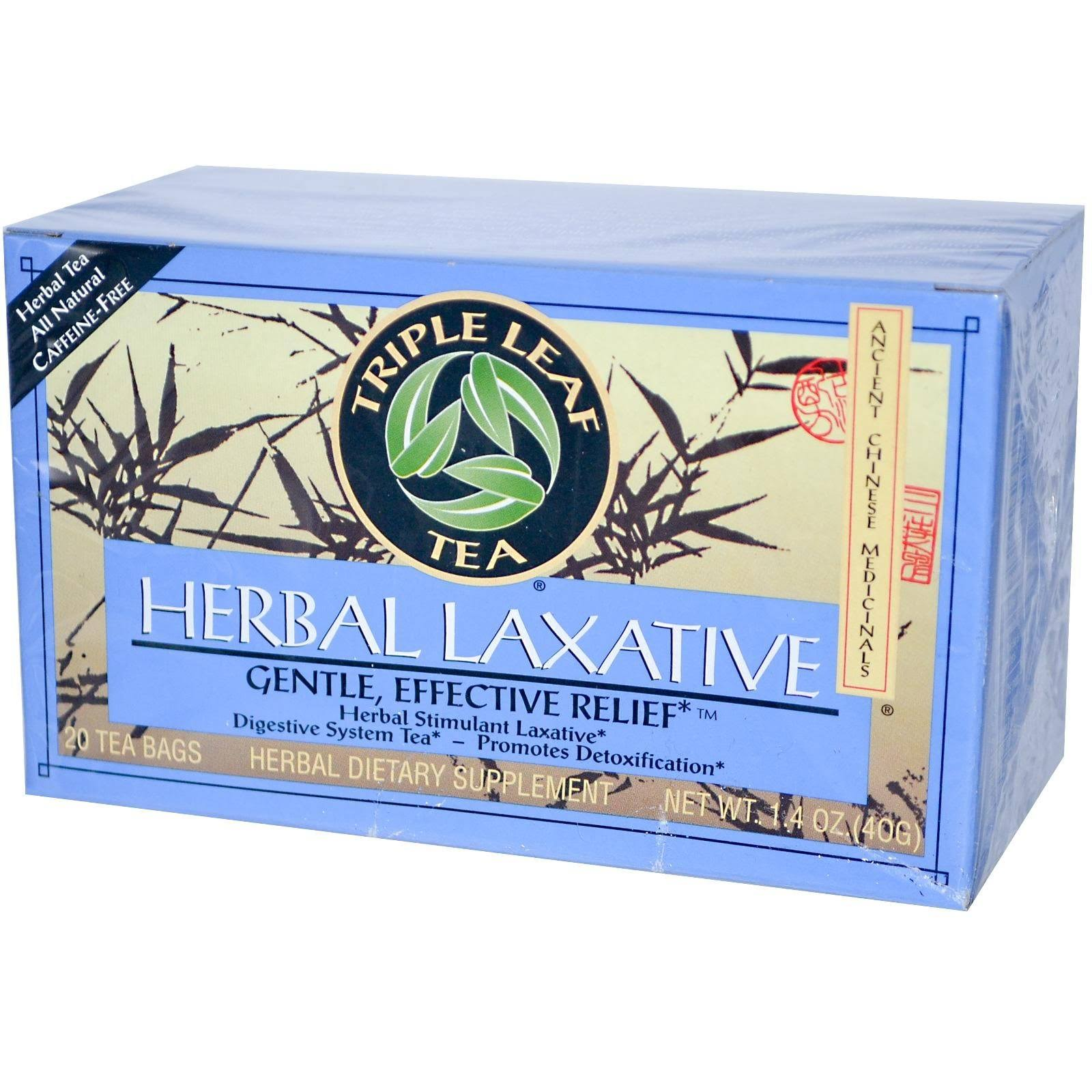 Triple Leaf Tea Herbal Laxative Tea - 20 Tea Bags, 1.4oz