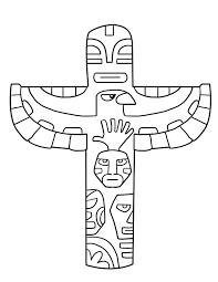 Buffalo Page De Coloriage On Free Printable Totem Pole Coloring