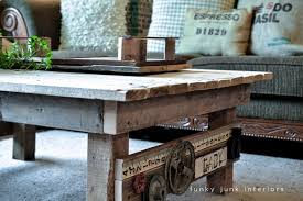 My New Junk Styled Pallet Wood Coffee Table