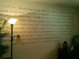Portions Of Some My Favorite Bible Verses Painted On Living Room Wall