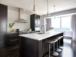 Kitchens With Dark Cabinets And Wood Floors by This Or That White Vs Wood In Two Stylish Kitchens Marble