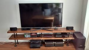 Industrial Pipe And Wood TV Stand By PipeAndWoodDesigns On
