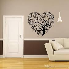 Innovation Inspiration Heart Shaped Wall Decor Tree Art Mural Sticker Living Room Bedroom