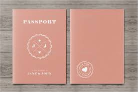Passport Wedding Event Template Word
