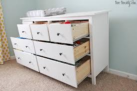 Hemnes 6 Drawer Dresser Hack by Nursery Dresser Organization