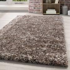 shaggy hochflor langflor teppich wohnzimmerteppich weich soft einfarbig meliert