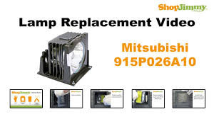Mitsubishi Projector Lamp Replacement by Mitsubishi 915p026a10 Lamp Replacement Guide For Dlp Tv Youtube