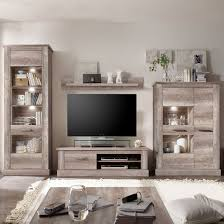 montreal living room furniture set in oak with led light