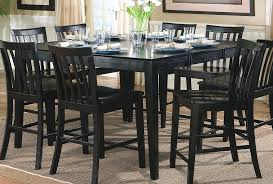 Jerome Collection 101038BLK Black Counter Height Dining Table Set